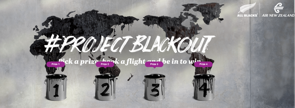 Project Blackout Air New Zealand
